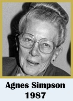 Click for biography of Agnes Simpson
