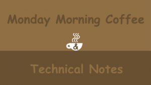 monday-coffee-tech notes